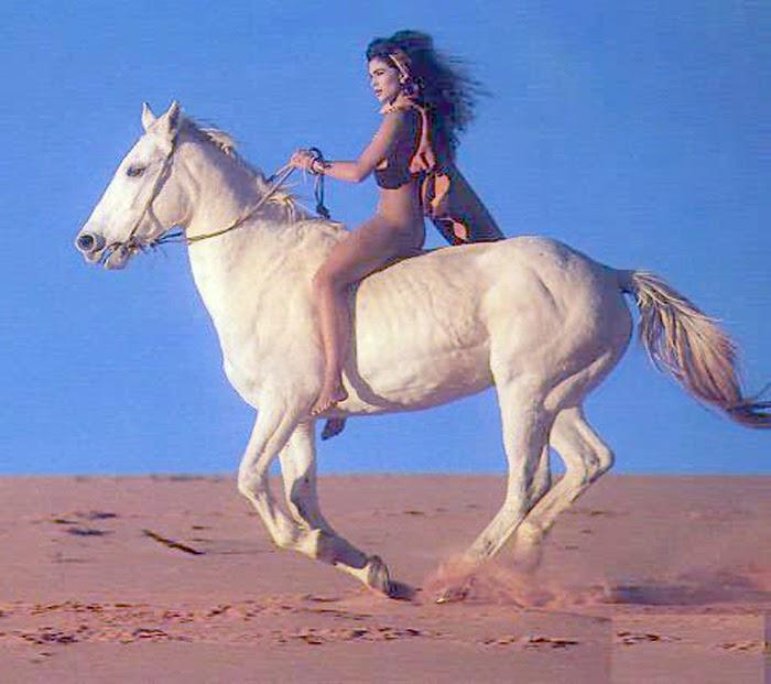 Riding sexy woman