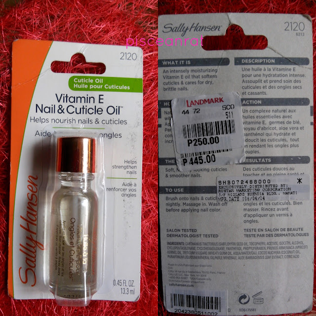 Sally Hansen Vitamin E Nail & Cuticle Oil Review