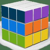 O cubo representa as diversas faces de um texto: cada uma da cor adequada.