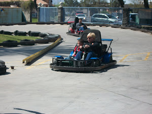 Riding the go-carts