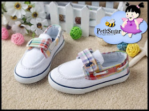 RALPH LAUREN CHECKER WHITE SHOE Size: 6 14CM PRICE RM59