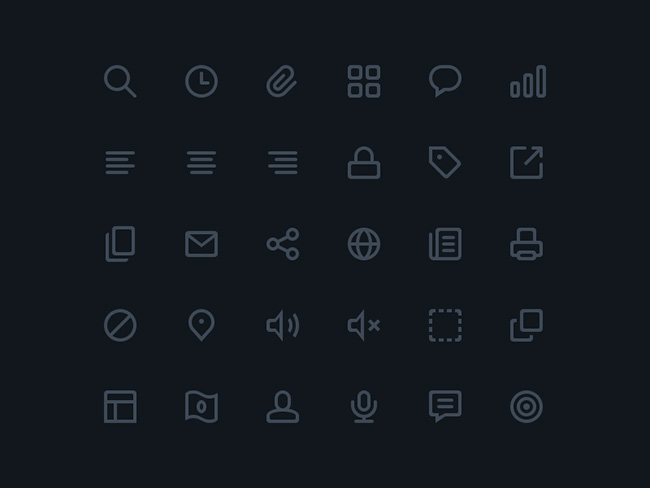 icon pack to download free minimal