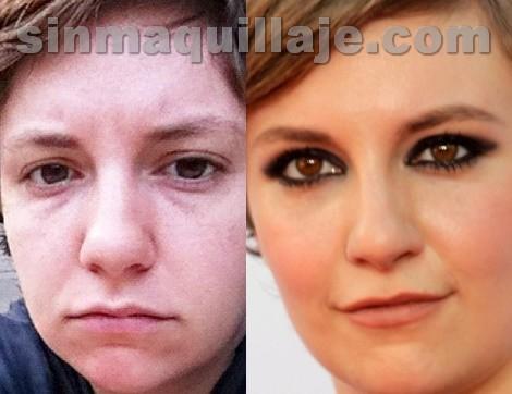 Lena Dunham sin maquillaje