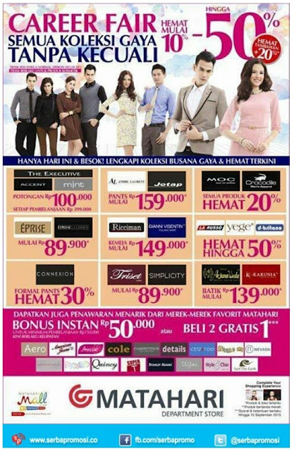 Matahari Promo Career Fair 14 -15 September 2015