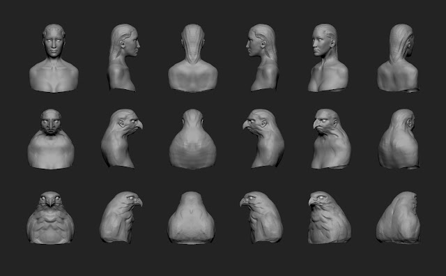 ... Artworks: Term - 5 Creature sculpting human animal hybrid assignment