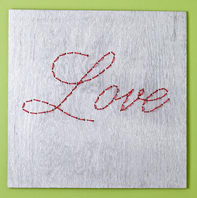 Cuadro romántico para San Valentín en Recicla Inventa