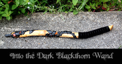 Into the Dark Blackthorn Wand from Moonscrafts )0(