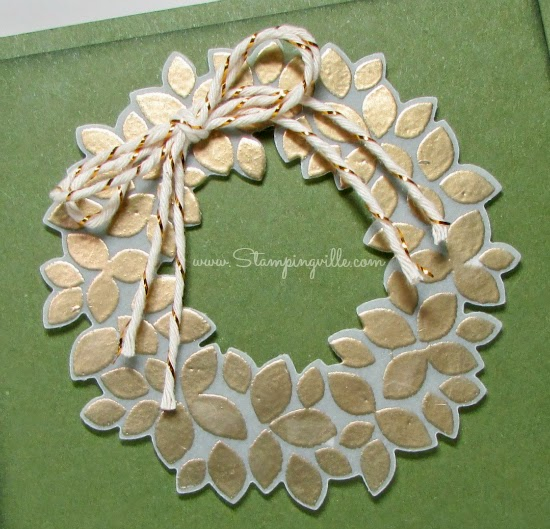Stampin' Up! Wonderful Wreath stamps + matching dies | Stampingville #papercrafts #cardmaking #StampinUp