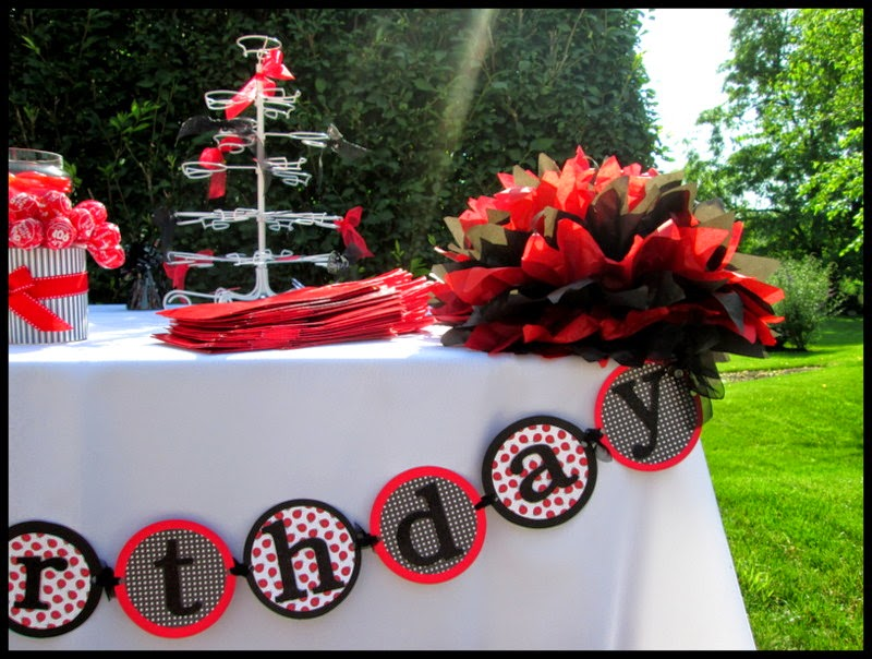 Ladybug party happy birthday banner