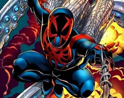 10 Kostum Spider-Man Terbaik Sepanjang Masa: Spider-Man 2099 Suit