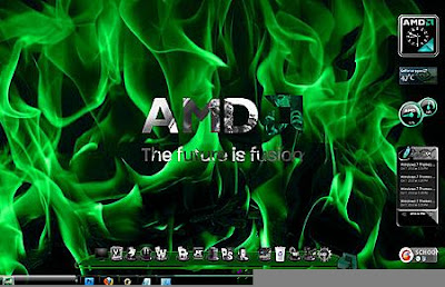 TEMA WINDOWS 7 AMD COOL WITH GADGET