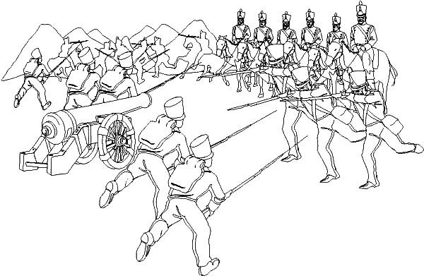 Dibujo de la batalla de la victoria para colorear - Imagui
