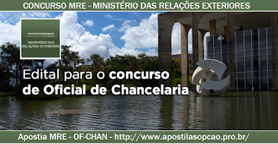 Concurso MRE Oficial de Chancelaria Ministério das Relações Exteriores 2015,