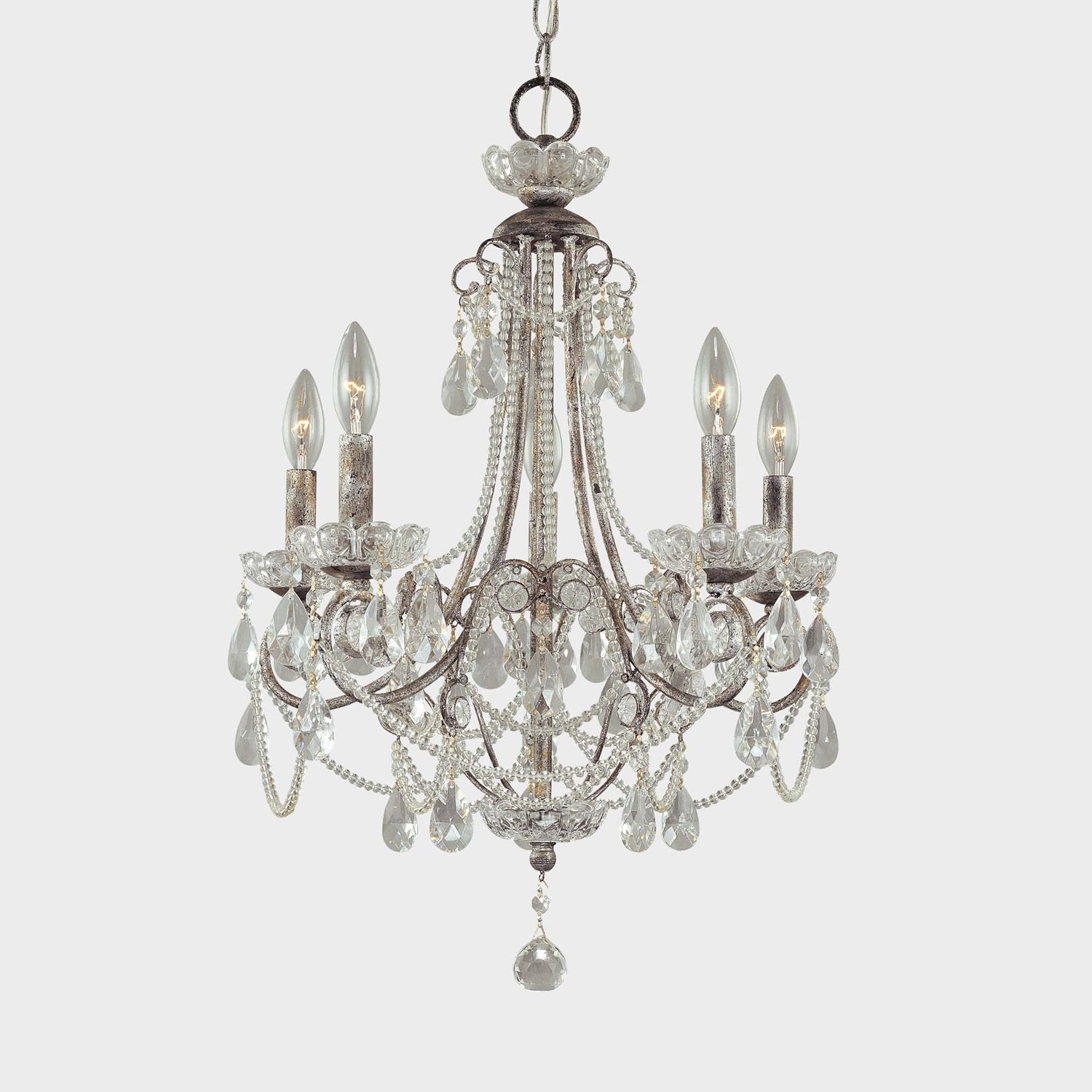 How do i love thee chandelier chic for Small chandeliers for bathrooms