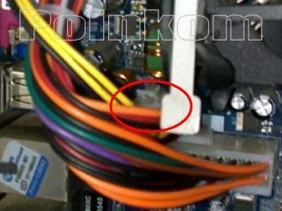 Memasang Konektor Kabel ATX