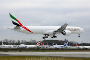 A6EGK B77731HER Emirates Flown back to Everett from Portland after . (egk emirates painted)