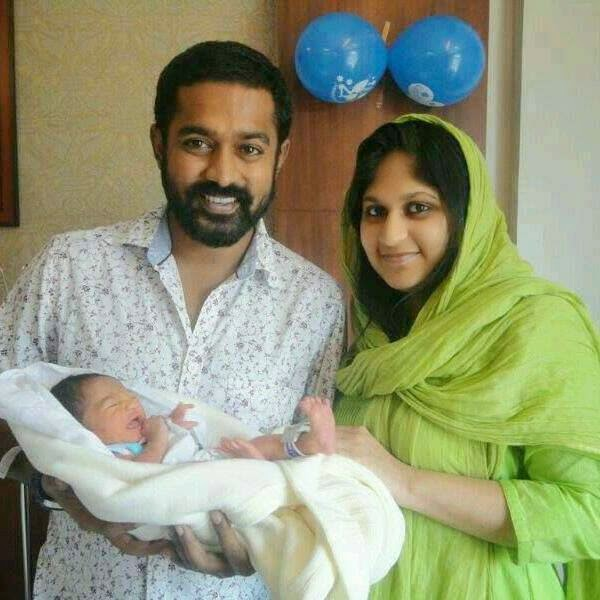 asif ali son wife baby
