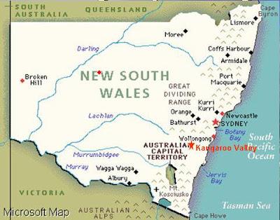 Карта штата Новый Южный Уэльс,  ПМЖ,  купить билет на самолет, путешествие