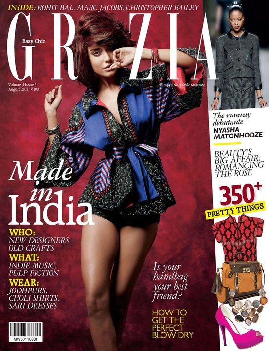 Lisa Haydon  - Lisa Haydon On Grazia Magazine Cover August 2011 Edition