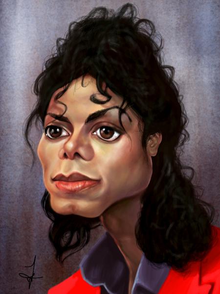 artwork by lynell jinks michael jackson caricature ipad