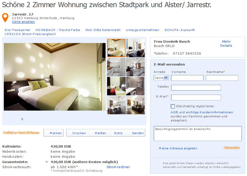 sch ne 2 zimmer wohnung zwischen stadtpark und alster jarrestr gegen wohnungsbetrug. Black Bedroom Furniture Sets. Home Design Ideas