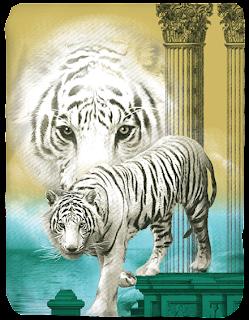 Selimut Kendra White Tiger