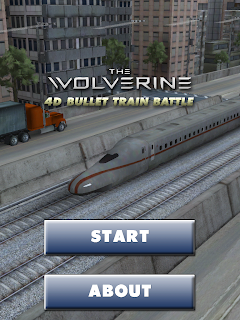 The Wolverine Bullet Train 4D Augmented Reality App