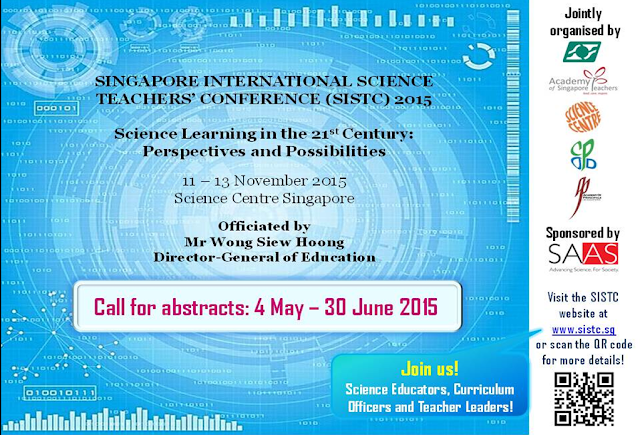 Singapore science teacher conference 2015 11-13 November Science Centre
