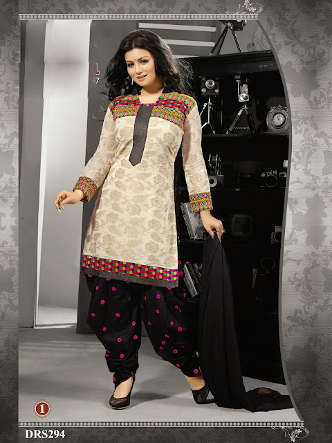 Ayesha Takia Punjabi Style Embroidery Dress Material