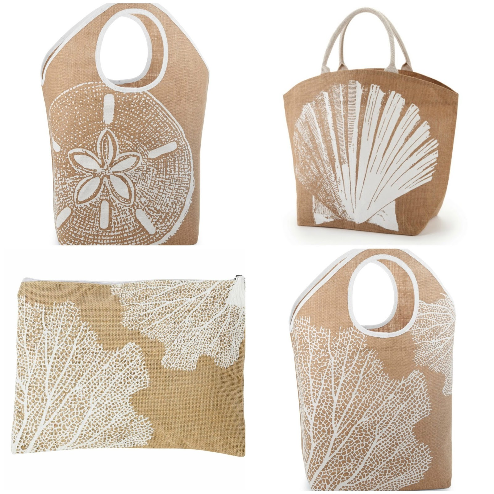 Sea glass cottage favorite things 2 jute tote bags for Favorite things home decor