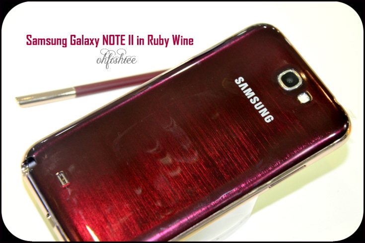 Galaxy note 2 ruby wine color dress