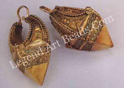 KATHIJA (earrings) Kerala Cochin 19th century L: 7 cm