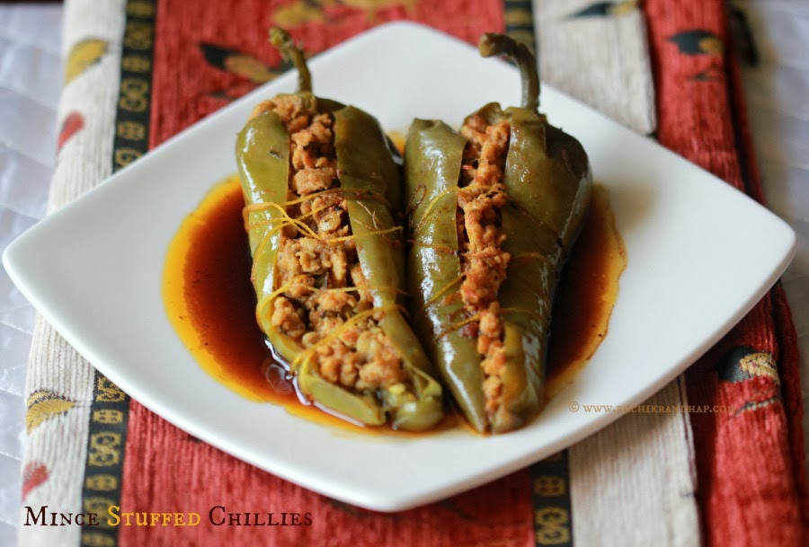mince stuffed chillies (keema bhari mirch)