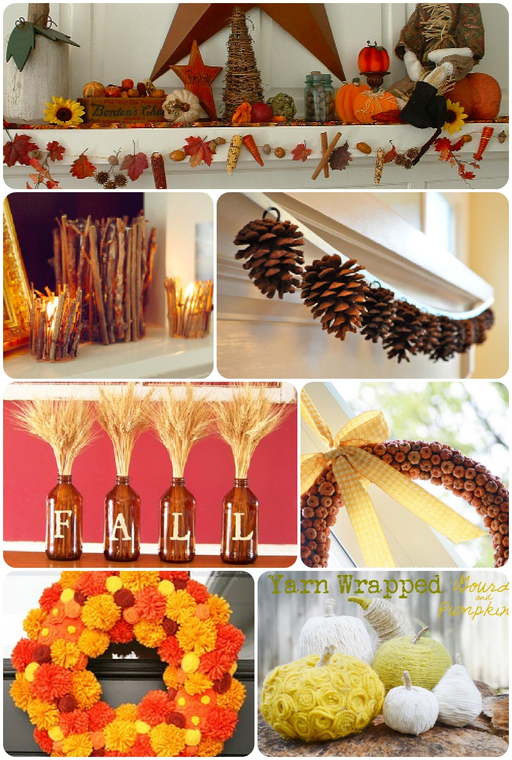 Create and Share  Fantastic Fall Decorating and Craft Ideas  HappyGoLucky
