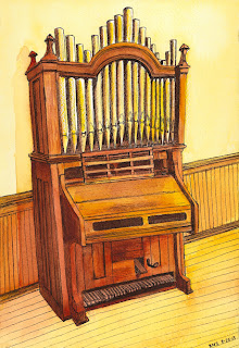 drawing of an organ