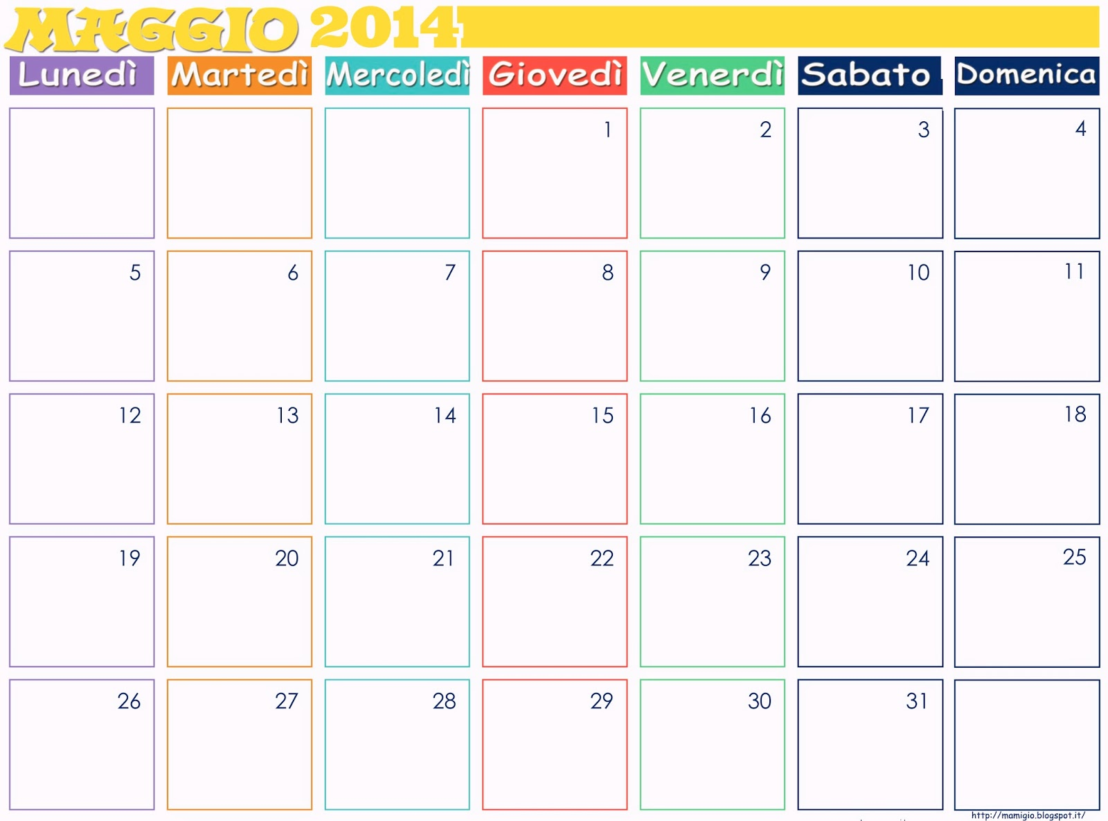 Mamigio calendario mensile scaricabile - Calendario da tavolo 2017 ...
