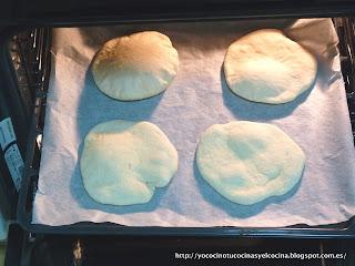 pan de pita horneado