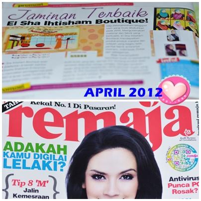 EL SHA IHTISHAM di majalah REMAJA