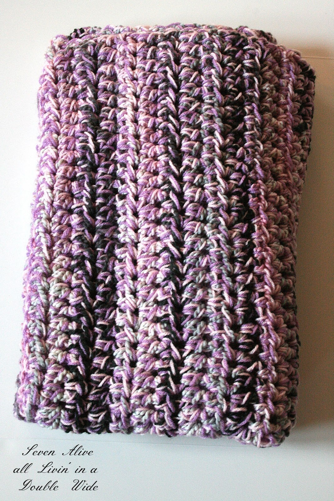 First a quick tutorial on how to crochet with more than one strand of yarn.  The inspiration for my pattern comes from this one. I used a size Q hook  and ...