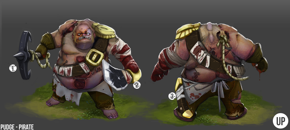 DOTA2 : Pudge Pirate Skin/Cosmetic
