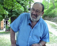 Umberto Eco durante l'intervista