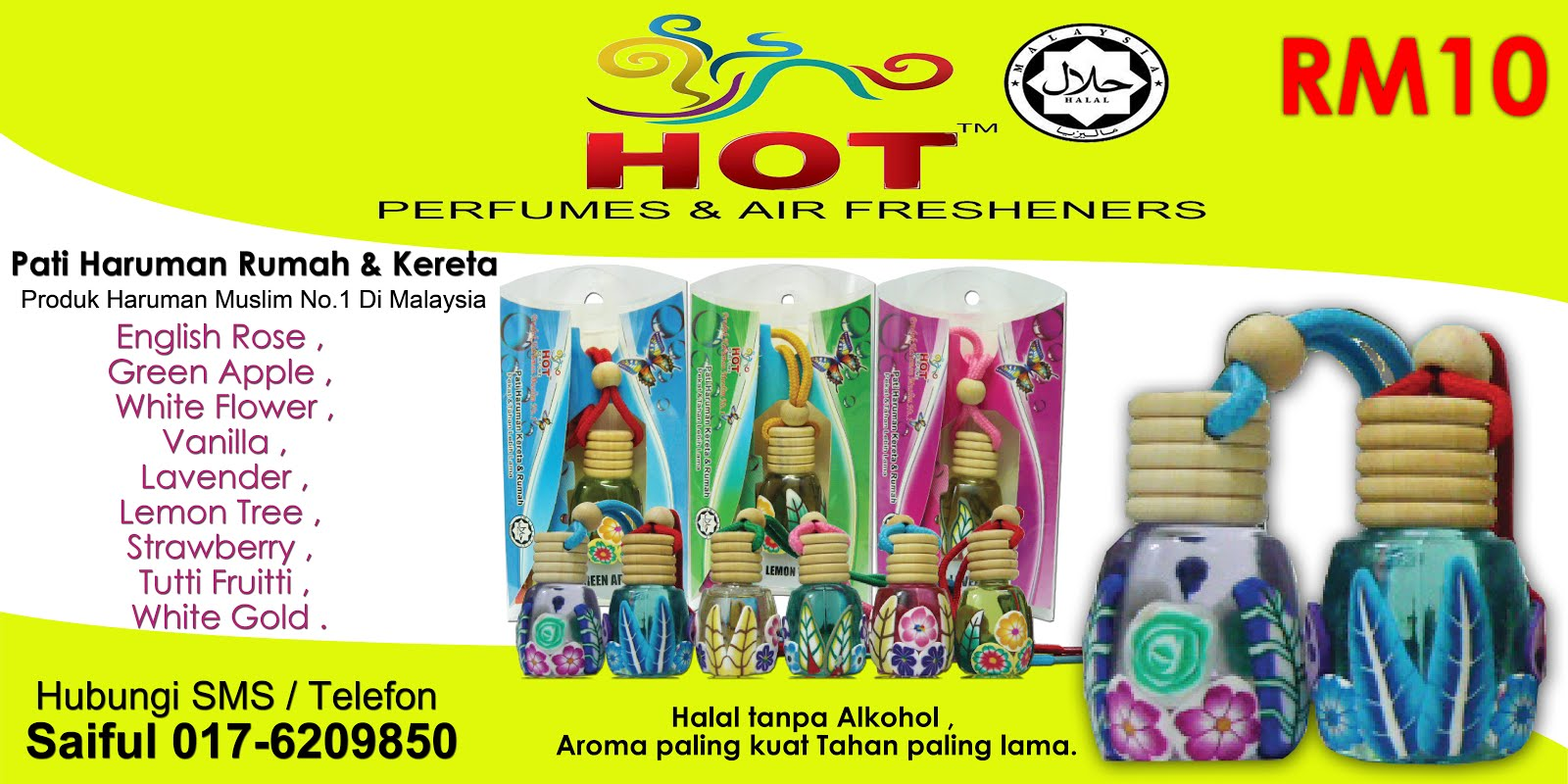 Pati Haruman Hot Perfumes and Air Fresheners