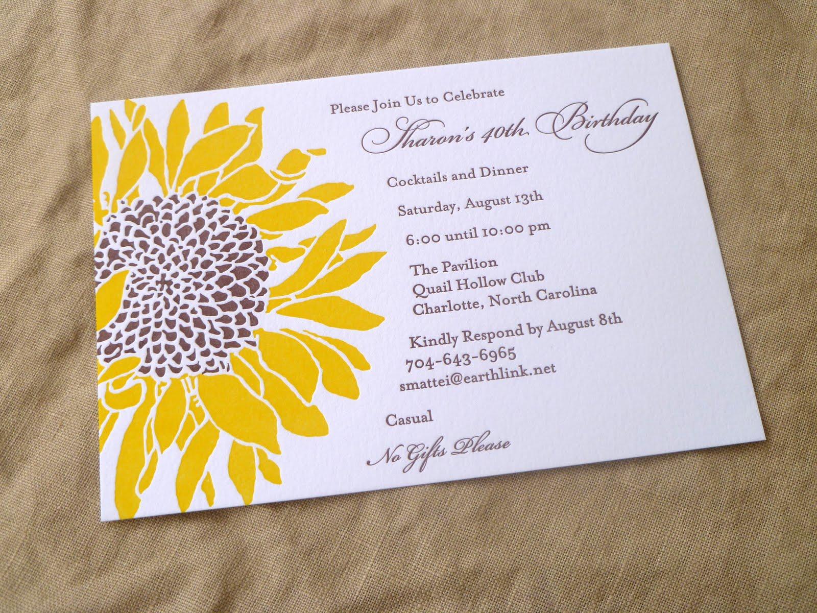Sunflower Wedding Invitations Matik for – Sunflower Wedding Invitations Kits