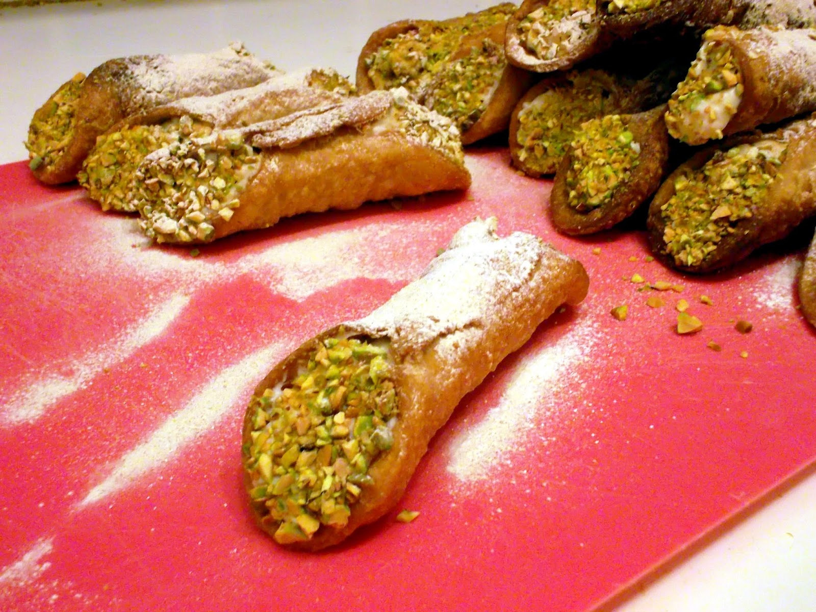 Lemon Pistachio Cannoli