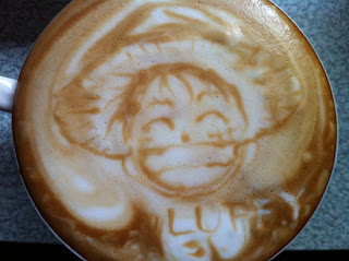 Luffy One Piece - Latte Art by Huang JY
