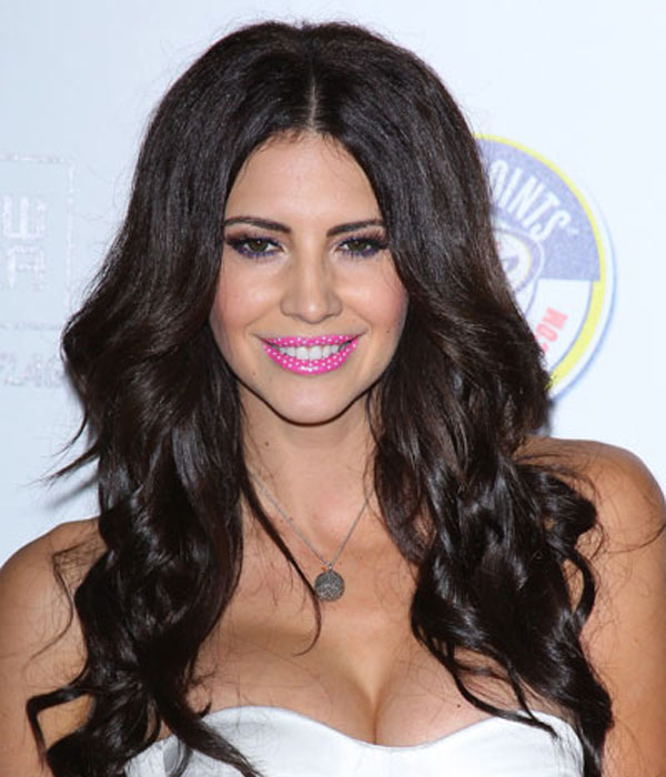 Playboy Model Hope Dworaczyk Wearing A Polka Dot Lip Tattoo