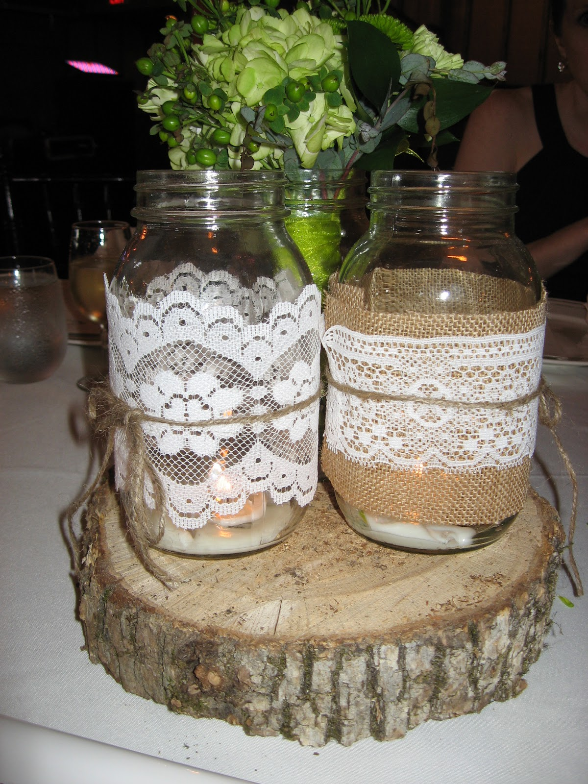 Daily dose of joy easy adorable centerpieces and a for Mason jar wedding centerpiece ideas