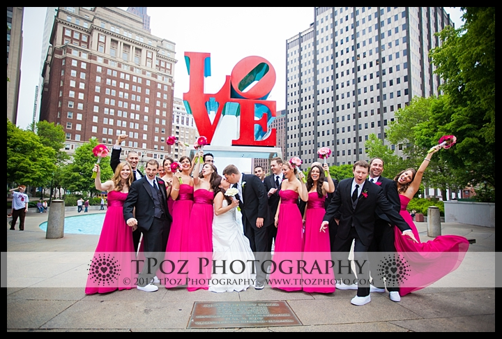 Love Park Philadelphia wedding photos