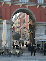 Beautiful archway in Madrid