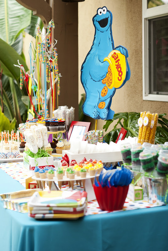 Kara's Party Ideas Sesame Street 2nd Birthday Party | Kara ...